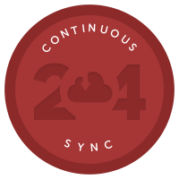Continous Sync Coderwall badge